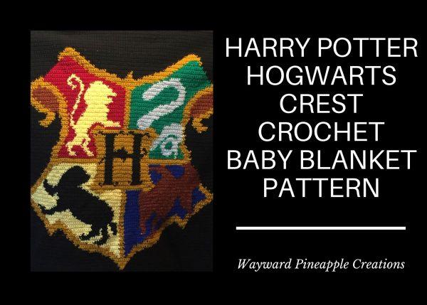 Title: Harry Potter Hogwarts Crest Crochet Baby Blanket Pattern
