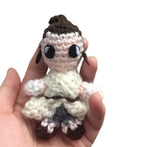 crochet doll of rey from star wars