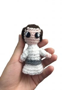 crochet doll of leia from star wars