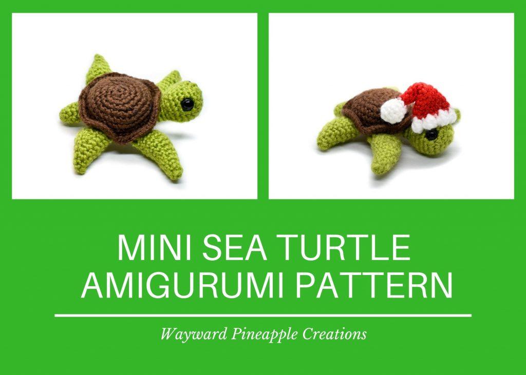 Title: Mini Sea Turtle Amigurumi Pattern